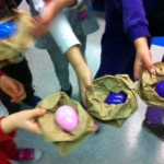 Goddard Preschool, Making baby birds to go along with Mallory the Forgetful Duck